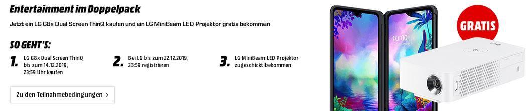 LG G8X Thinq für 49€ + Telekom Magenta AllNet & SMS Flat + Hotspot + 6GB LTE für rechn. 29,95€ mtl.