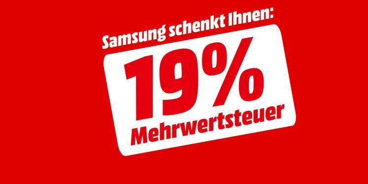 Media Markt & Saturn:  Ausgewählte Samsung TVs und Soundbars ohne 19% MwSt. bis Mitternacht