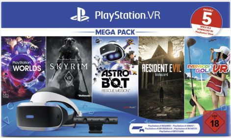 Saturn Weihnachtsmarkt Aktion mit vielen coolen Angeboten z.B. SONY PlayStation VR Mega Pack 5 Spiele für 199€ (statt 229€)