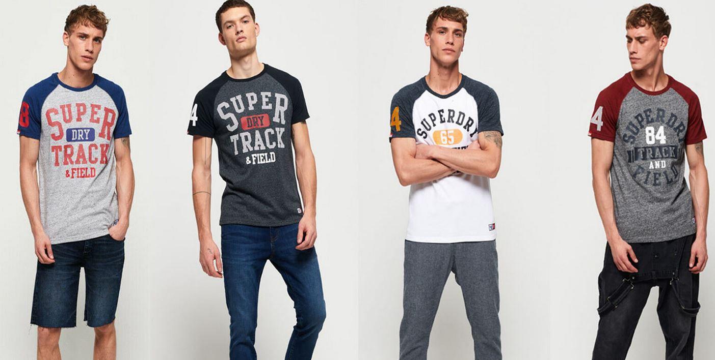 Superdry Trackster Herren Baseball T Shirt für 13,95€ (statt 23€)
