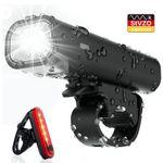 Vorbei! Pezimu LED Fahrradlicht-Set mit StVZO-Zulassung mit Front- & Rücklicht für 7,95€ (statt 13€)