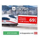 MyTrain: 2x Bahntickets für ICE, IC und EC inkl. 6 Monate Maxdome für 69,90€ (statt 100€)