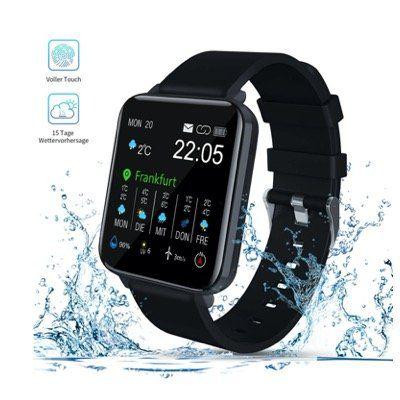 Zagzog Smartwatch mit Touchscreen, GPS, IP68, Puls und Blutdruck für 29,99€ (statt 49€)
