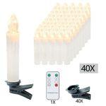 30% Rabatt auf LED-Weihnachtskerzen mit Flammeneffekt – z.B. 40 Kerzen für 16,49€ (statt 30€)