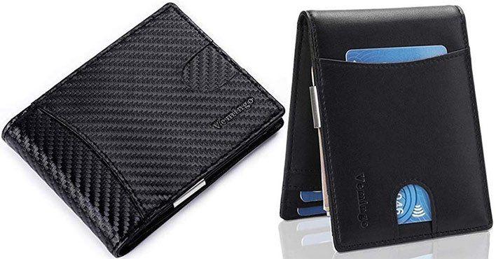 Vemingo Geldbörse mit RFID Blocker & Geldklammer in 2 Designs für je 9,99€   Prime