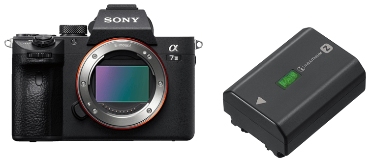 SONY Alpha 7 M3 Body (ILCE 7M3) Systemkamera + 400€ Geschenk Coupon + Sony NP FZ100 Akku für 1.949€ (statt 1.960€)