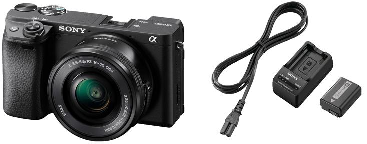 Sony Alpha 6400 Kit System mit Objektiv 16   50 mm + Ladegerät + Akku ab 929€ (statt 971€)