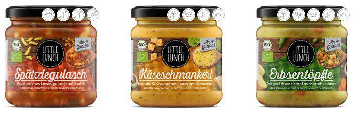 Little Lunch: 20% Rabatt auf alle Suppen, Saucen, Fonds   z.B. 16x Pack Erbsentöpfle für 28,67€ (statt 48€)