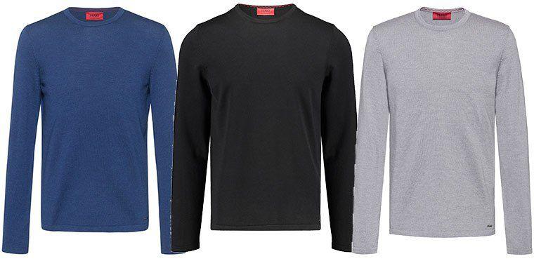HUGO BOSS Herren Pullover San Paolo in vielen Farben für je 71,41€ (statt 92€)