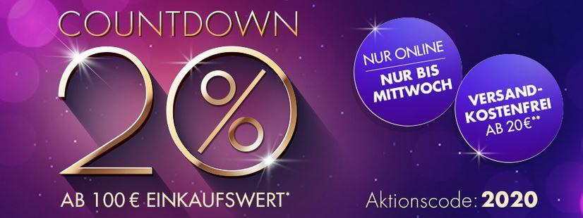 Galeria Coutdown Sale mit vielen Angeboten 20% extra Rabatt ab 100€ bis Mitternacht