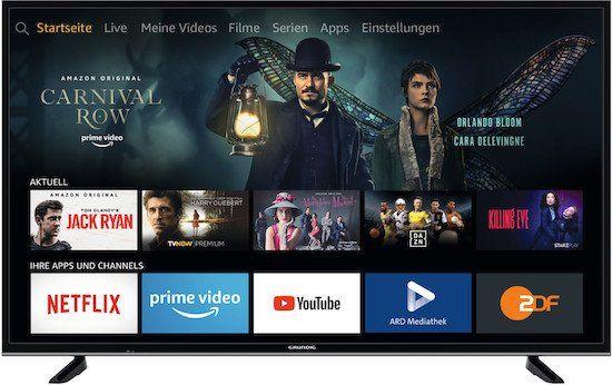 Grundig 55GUB7062   55 Zoll UHD Fernseher (Fire TV Edition) für 377€(statt 422€)