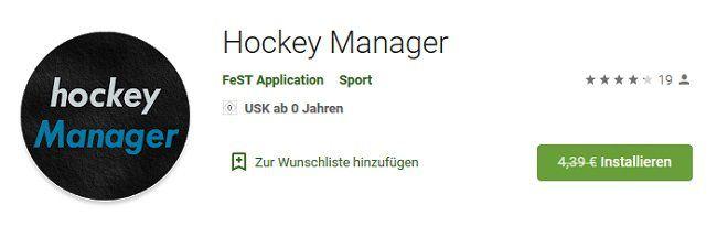 Android: Hockey Manager gratis (statt 4,39€)