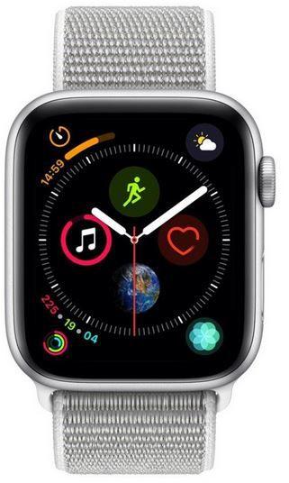 Apple Watch Series 4 (GPS + Cellular) 44mm Aluminium in Silber Sportband für 380,97€ (statt 497€)
