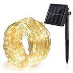 Ankway 100 LED 11 Meter Lichterkette 8 Modi Outdoor mit Solar Panel für 7,92€ (statt 13€) prime Versand