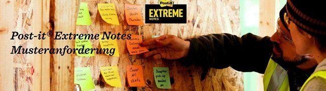 Muster von Post it® Extreme Notes kostenlos anfordern