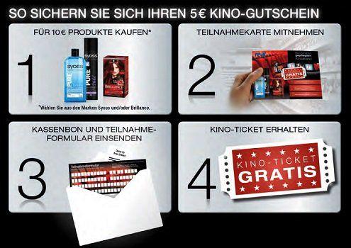 Beim Einkauf von Syoss Produkten 5€ Kinogutschein sichern