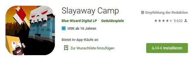 Androi: Slayaway Camp gratis (statt 3,19€)