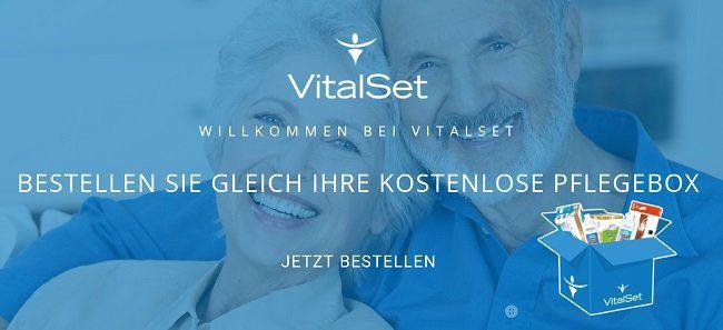 Kostenlose Pflegebox von VitalSet