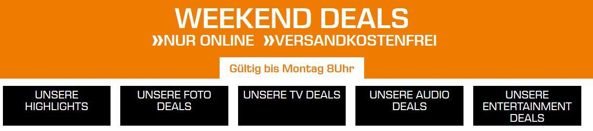 Saturn Weekend Sale: günstige TVs, Foto & Audio Deals z.B.  SONY Alpha 7 M2 Systemkamera für 999€ (statt 1.149€)