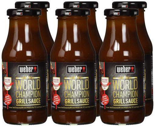 6er Pack Weber World Champion Grill Sauce BBQ für 6,66€ (statt 15€)