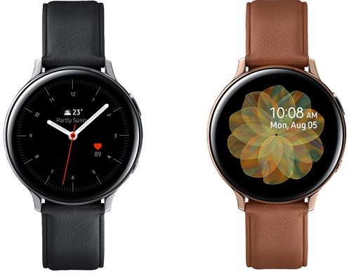SAMSUNG Galaxy Watch Active2 LTE Edelstahl mit Echtlederarmband für 255€ (statt 369€)
