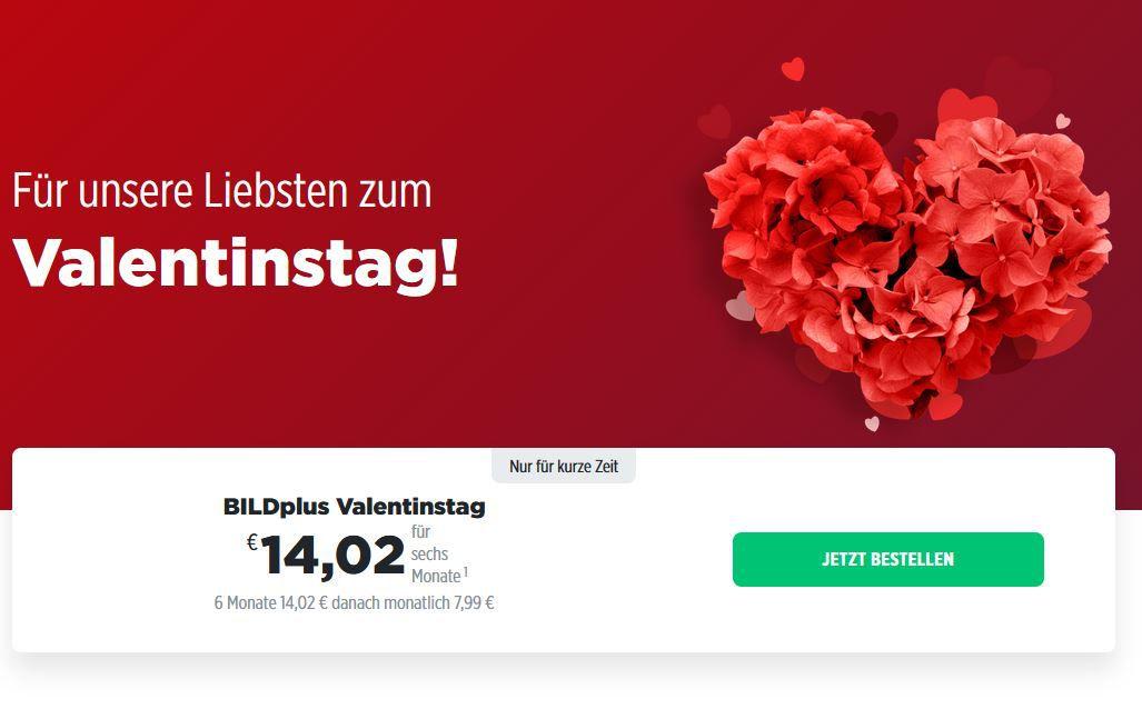 6 Monate BILDplus für nur 14,02€ (statt 48€)