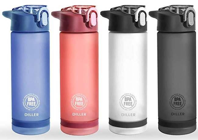 Diller Trinkflasche mit 550 oder 850ml in 8 Farben für je 7,99€   Prime