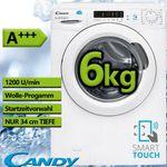 Candy CS34 1262D3-S Waschmaschine (6 kg, 1200 U/Min) mit App-Steuerung für 214,90€ (statt 289€)