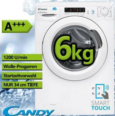 Candy CS34 1262D3 S Waschmaschine (6 kg, 1200 U/Min) für 222€ (statt 259€)