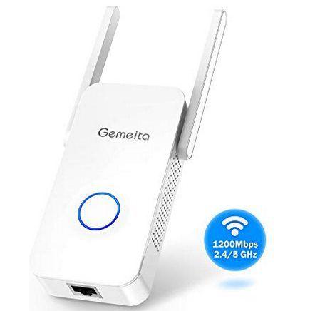 Gemeita 1200 Mbit/s Dualband WLAN Repeater für 27,74€ (statt 37€)