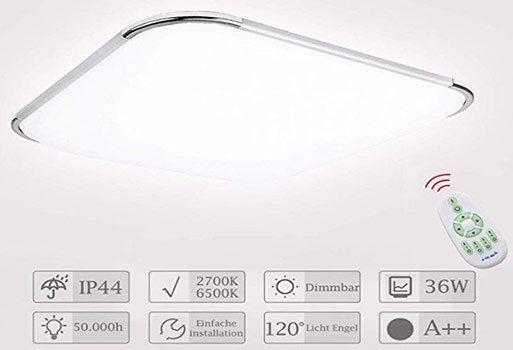 30% Rabatt auf HENGDA LED Deckenleuchten mit 36W inkl. Fernbedienung für 27,99€ (statt 40€)