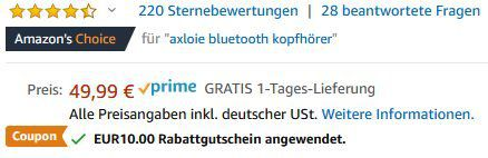 Abgelaufen! Axloie G1 BT5.0 InEar Sportkopfhörer für 29,49€ (statt 50€)