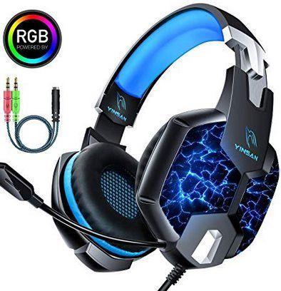YINSAN Gaming Headset für PC & Konsole mit 50mm Treiber für 13,59€ (statt 21€)