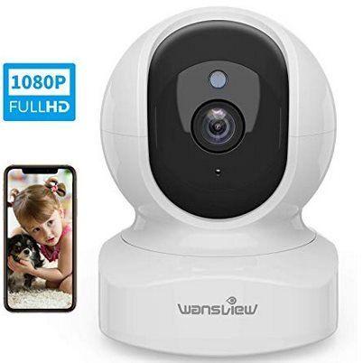 Wansvie Q5   1080p IP Kamera mit Bewegungserkennung für 23,99€ (statt 40€)
