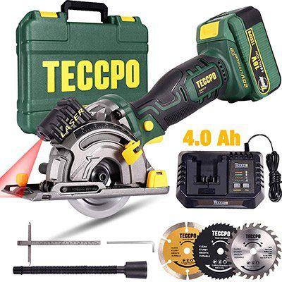 TECCPO TDMS23P 18V Akku Handkreissäge mit 4.0Ah Akku für 83,69€ (statt 126€)