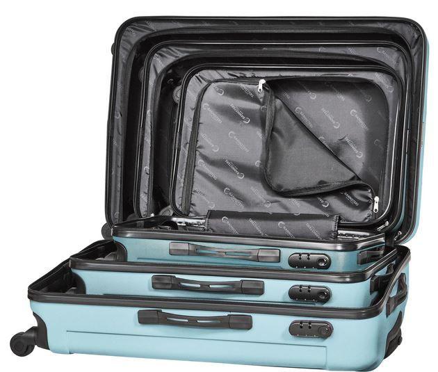 3er Set Bannisters Reisekoffer aus ABS Hartschale mit Zahlenschloss für 103€ (statt 145€)