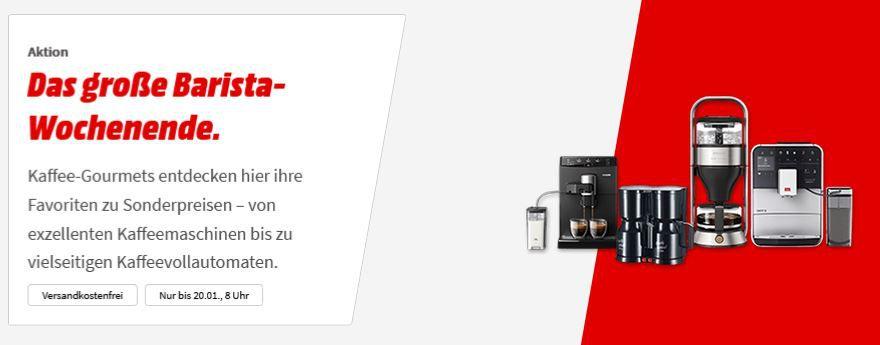 Media Markt Barista Aktion: z.B. Philips 3000 Serie Kaffeevollautomat für 289€ (statt 325€)