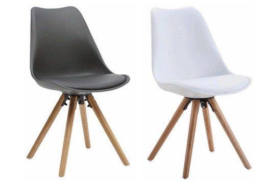 Abgelaufen! Esszimmer Stühle im Designerstil in Weiß oder Grau je nur 17,50€ (vorher 40€)