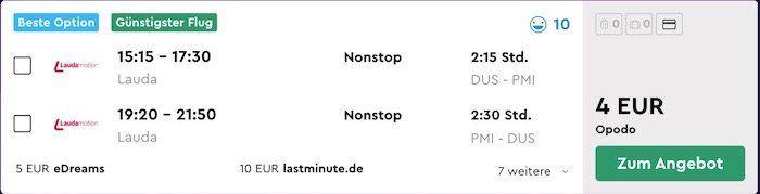 Für 4€ nach Malle und zurück inkl. Handgepäck   nur im Januar von Düsseldorf