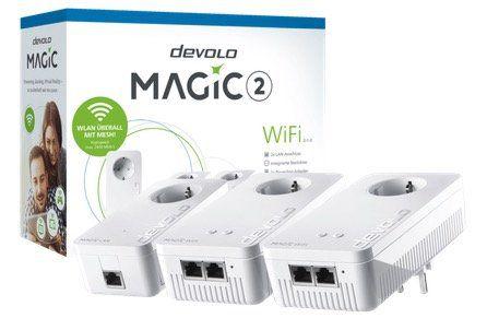 Devolo Magic 2 WiFi Multiroom Kit (2xWiFi+1xLAN 2400mbps) für 179€ (statt 241€)