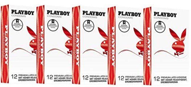 120er Pack Playboy Kondome mit Erdbeer Geschmack für 18,99€ (statt 35€)