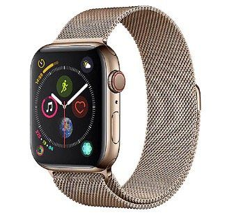 Abgelaufen! Apple Watch Series 4 (GPS + LTE) in 44mm mit goldenem Edelstahlgehäuse + Milanaise Armband für 550€ (statt 694€)