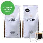 2kg Celeste d'Oro Kaffeebohnen + 2 Kaffeegläser (je 260ml) für 30,94€
