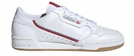 adidas Herren Trainer Continental 80 ftwr in Weiß für 47,95€ (statt 64€)