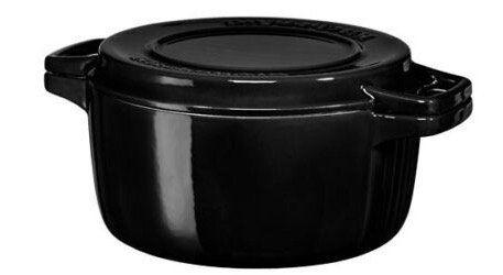 KitchenAid KCPI40CROB Gusseisen Bräter 24cm in Schwarz für 54,90€ (statt 107€)