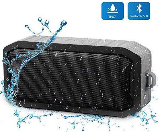 Wasserdichtes Bluetooth Dusch Lautsprecher mit 8h Spielzeit mit Mikrofon für 7,29€ (statt 17€)