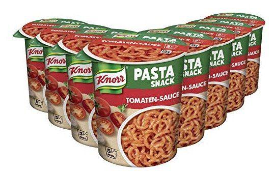 Ausverkauft! 8er Pack Knorr Pasta Snack Tomaten Sauce ab 5,18€ (statt 11€)