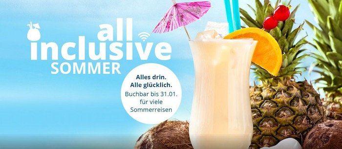 🍹AIDA News: Bei Sommer Kreuzfahrten All inclusive inkl. Getränke  und Internet Paket ab 99€
