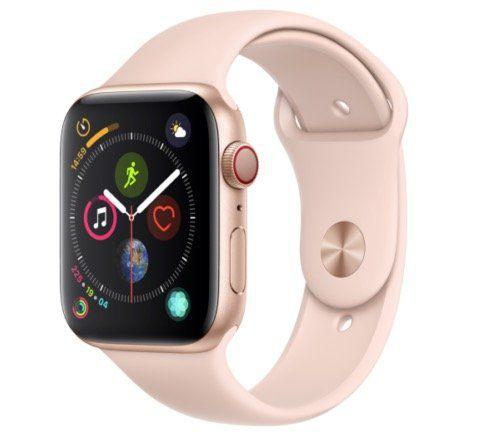 Apple Watch Series 4 LTE in 44mm Gold mit Sportarmband Sandrosa für 379€ (statt 458€)