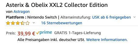 Asterix & Obelix XXL 2 Collector Edition (Switch) für 39,99€ (statt 72€)